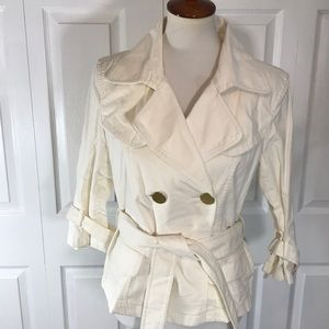 Ann Taylor Womens Small Tailored White Jacket